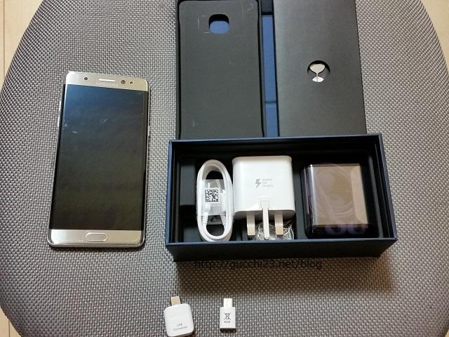 Galaxy Note 7(SM-N930FD)を購入!ファーストインプレッションを簡単にエントリー
